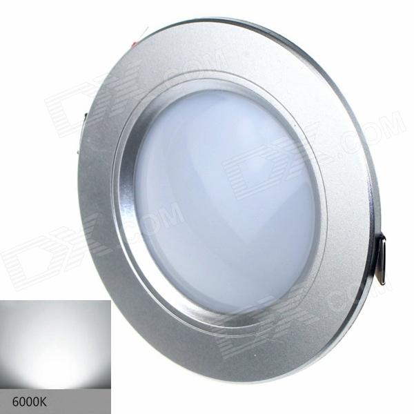 ZHISHUNJIA S025-3 3W 200lm 6000K 12-SMD 2835 LED White Ceiling Lamp - Silver (AC 85~265V)