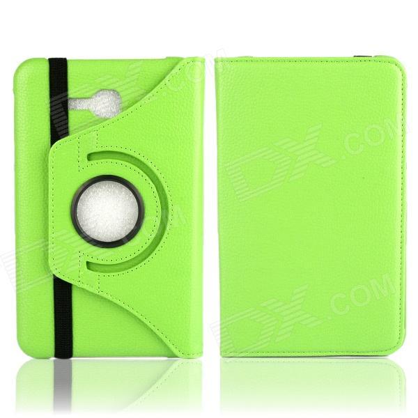 Фото Litchi Texture 360' Rotation Protective Case Cover Stand for Samsung Galaxy Tab 3 Lite T110 - Green 100pcs lot 360 degree rotating litchi folio stand pu leather skin case cover for samsung galaxy tab s3 9 7t825 t820 fundas case