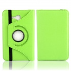 Litchi Texture 360' Rotation Protective Case Cover Stand for Samsung Galaxy Tab 3 Lite T110 - Green