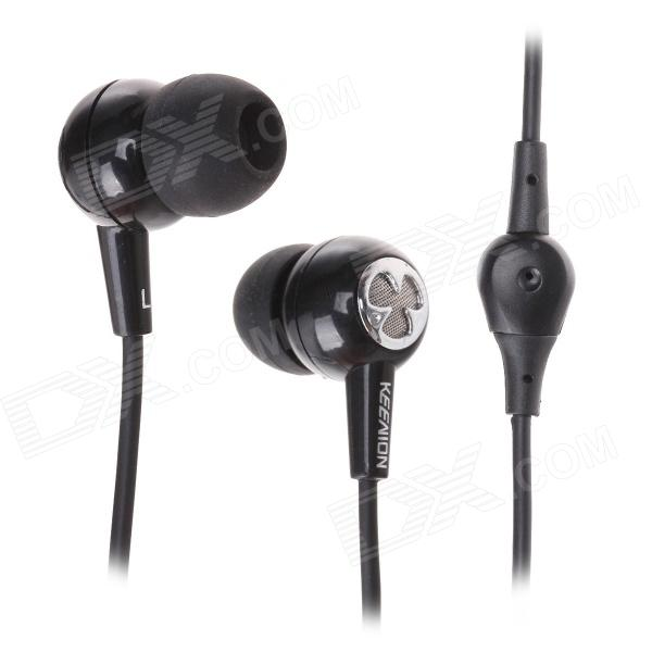 KEENION KDM-E91 3.5mm In-Ear Style Headphone w/ Sound Card - Black (Cable-210cm)