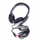 KEENION KDM-601 Stylish 3.5mm Headband Style Headphone w/ Microphone - Black (Cable-210cm)