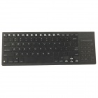 iPazzPort KP-810-35 2.4G USB Wireless Keyboard Touchpad w/ 3-Color Backlight - Black (3 x AAA)