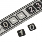 Mini Suction Cup Puzzle Phone Number Parking Plate - Black + Silver