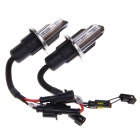 F16-2 35W 3200lm 6000K White Light Car HID Xenon Lamp Bulbs - Black + Silver (Pair)