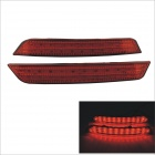 Carking 12V Red Light Rear Bumper Reflector Brake Lamp for Ford Mondeo Winning - Red (2 PCS)