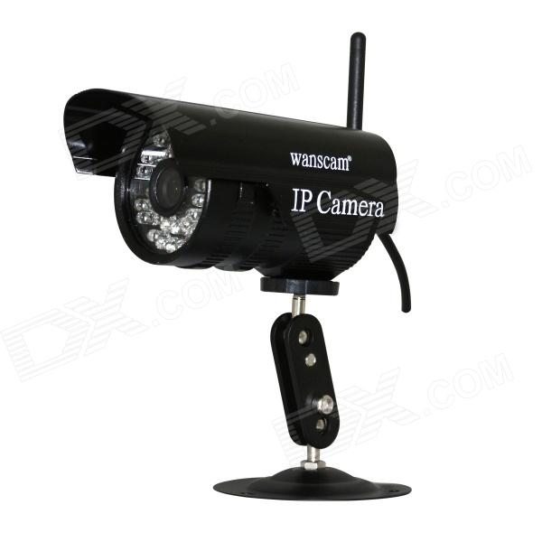 WANSCAM JW0011 1/4 CMOS 0.3MP P2P Indoor IP Camera w/ 36-IR-LED / Wi-Fi - Black (UK Plug)