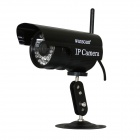 "WANSCAM JW0011 1/4"" CMOS 0.3MP P2P Indoor IP Camera w/ 36-IR-LED / Wi-Fi - Black (UK Plug)"