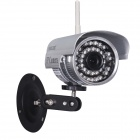 "WANSCAM JW0011 1/4"" CMOS 0.3MP P2P Indoor IP Camera w/ 36-IR-LED / Wi-Fi - Silver (EU Plug)"