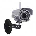 "WANSCAM JW0011 1/4"" CMOS 0.3MP P2P Indoor IP Camera w/ 36-IR-LED / Wi-Fi - Silver (UK Plug)"