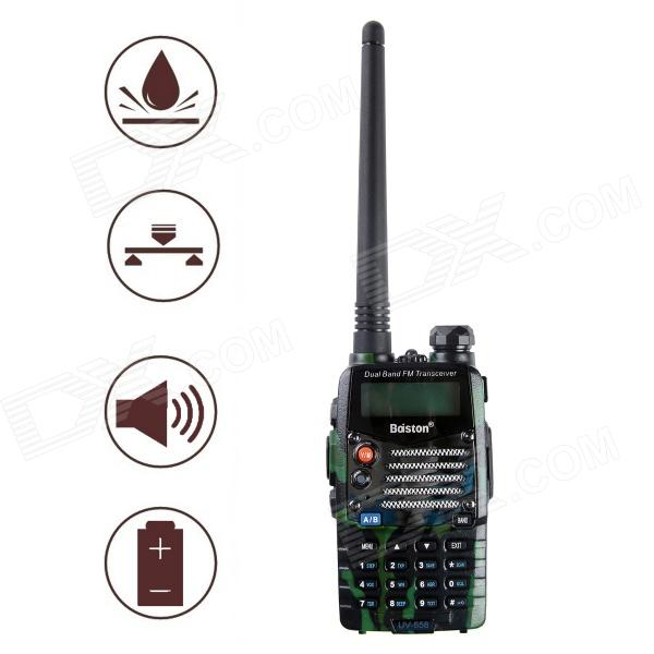 Baiston BST558UV 1.6 Waterproof Dual-Band Dual-Display Dual-Standby Walkie Talkie - Green