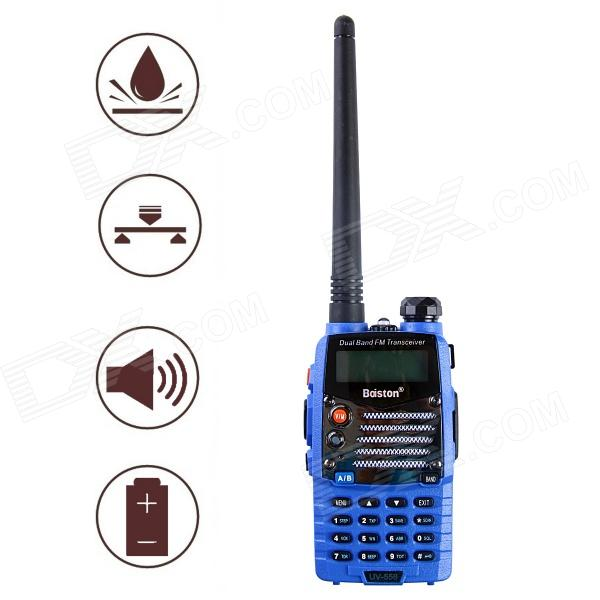 Baiston BST558UV 1.6'' Waterproof Dual-Band Dual-Display Dual-Standby Walkie Talkie - Blue