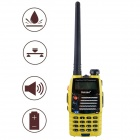 Baiston BST558UV 1.6'' Waterproof Dual-Band Dual-Display Dual-Standby Walkie Talkie - Yellow