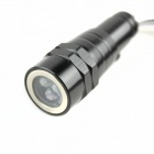 Flexible 120lm retráctil linterna LED - Negro + Plata (4 x LR44)