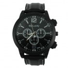 Men's Sports Style Large Dial Silicone Band Quartz Analog Wrist Watch - Black (1 x 377)