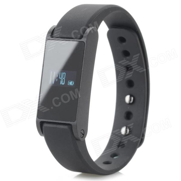 I6 OLED Bluetooth Waterproof Smart Wristband Watch w/ LED + Sport / Sleep Monitoring - Black умные часы apple watch series 3 38mm grey space with black sport band mqkv2ru a