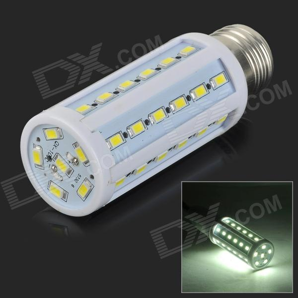 JRLED E27 10W 500lm 6300K 42-SMD 5730 LED White Light Corn Lamp - White + Beige (AC 220~240V)