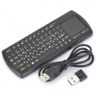 Mini Portable 71-key 2.4G Wireless Keyboard w/ Touch Pad for Laptop - Black (Russian)