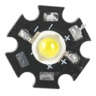 JRLED JR-LED-5W-13-14 5W 400lm 6300K 1-LED White Spotlight Emitter Board - Black + Silver (13~14V)