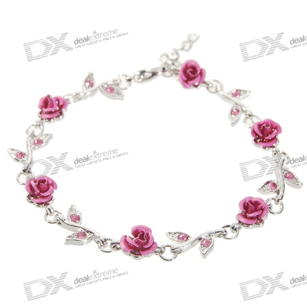 Red Rose Bracelet Cool Party Gift 63 rose de mai