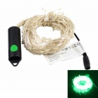 10.5W 12V 800lm Green Light 350-LED Waterproof Holiday Light Strip + 12V 1A US Plug Power Adapter