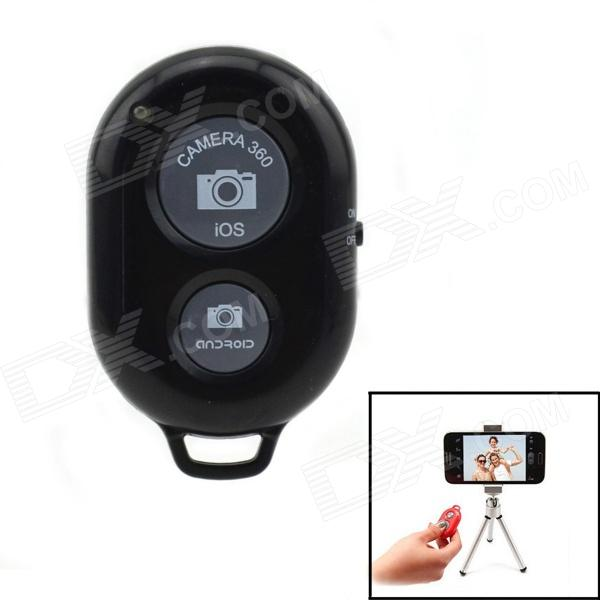 Jtron Bluetooth Remote Shutter with Tripod Bracket for IOS / Android - Black