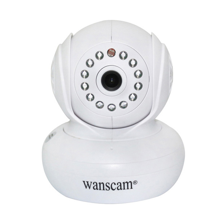 WANSCAM HW0021 1/4 CMOS 1.0MP Indoor IP Camera w/ 10-IR-LED / Wi-Fi / IR-CUT / TF - White (EU Plug) wanscam jw0004 1 4 cmos 0 3mp wireless p2p indoor ip camera w 13 ir led wi fi white eu plug