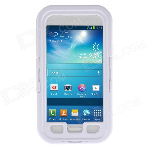 Protective Waterproof Shockproof Snowproof PC + Silicone Case for Samsung Galaxy S4 i9500 - White
