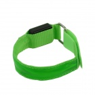 Outdoor Cycling Reflective Safety 3-Mode LED Nylon Armband w/ Buckle - Green (2 x CR2032)