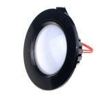 ZHISHUNJIA B030-7W 420lm 6000K 27-SMD 2835 LED White Light Ceiling Lamp - Black (AC 85~265V)