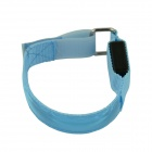 Outdoor Cycling Reflective Safety 3-Mode LED Nylon Armband w/ Buckle - Blue (2 x CR2032)