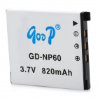 GODP GD-NP60 (CA) 3.7V 600mAh Li-Ion Digital Camera Battery