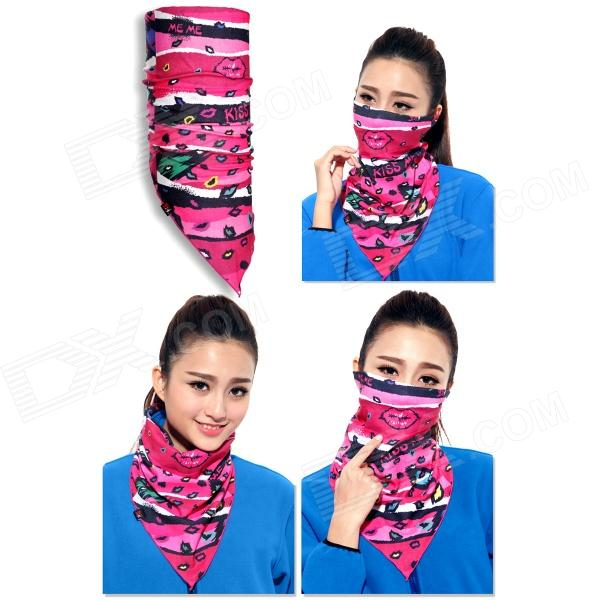 Wild Color VC1406 Women's Outdoor Cycling V-Shaped Headband / Face Mask / Neck Scarf - Multi-colored protective outdoor war game military skull half face shield mask black