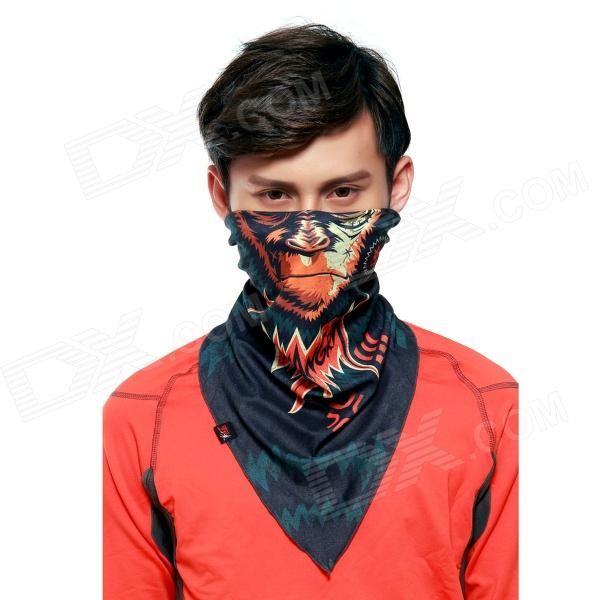 Wild Color VC1409 Men's Outdoor Cycling V-Shaped Headband / Face Mask / Neck Scarf - Multi-colored protective outdoor war game military skull half face shield mask black
