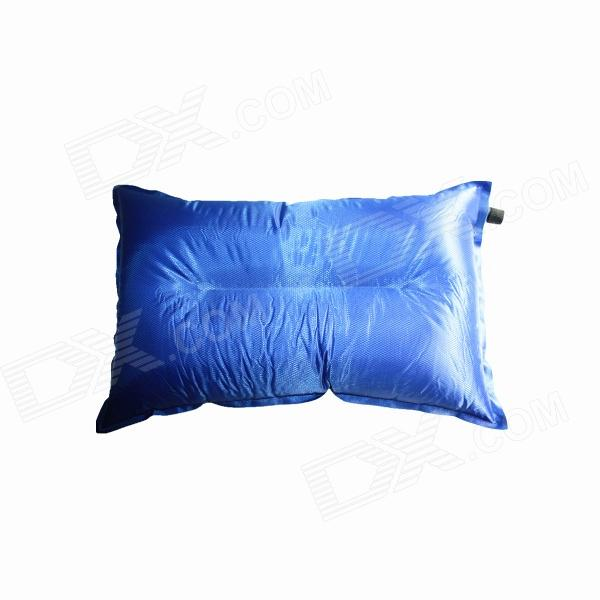 Outdoor Camping Auto Air Inflatable Cushion Pillow - Blue