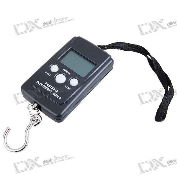 "1.5"" LCD Portable Digital Electronic Weighting Hook Scale (40kg Max/20g Resolution)"