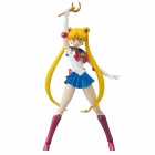Genuine Bandai BAN-64490 SHF Sailor Moon Figure - White + Blue
