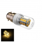 TZY CH-1 B22 4W 170lm 3000K 31-5050 SMD LED Warm White Light Lamp - White + Yellow (AC 220-240V)