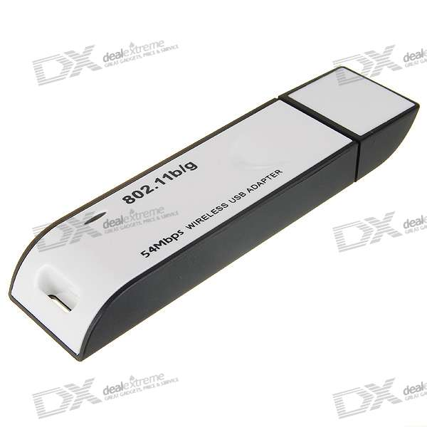 54Mbps USB Wireless 802.11b/g Wi-Fi LAN Adapter Dongle with Built-in Antenna