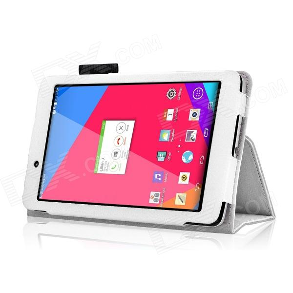 HighPro Protective PU Leather Case with Handle Strap for LG G Pad 7.0''  V400 - White