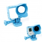 BZ Protective Frame Lens Hood w/ Screws for GOPRO HERO3+ - Blue