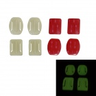 BZ Glow-in-the-dark 2-Curved + 2-Flat Adhesive Mount Bracket Set for GoPro Hero 2 / 3 / 3+ / SJ4000