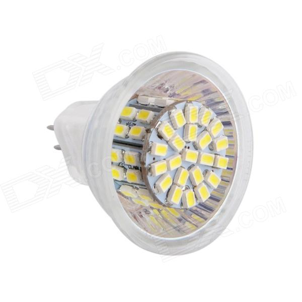 Gotrade 982 MR11 5W 190lm 6500K 50-SMD 3020 LED White Light Car Lamp - White + Silver (AC 12V)