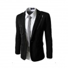 7-X37 Winter Fashionable Casual Men's Cotton Zipper Jacket Coat - Black (L)