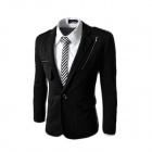 7-X37 Winter Fashionable Casual Men's Cotton Zipper Jacket Coat - Black (XL)