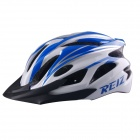 REIZ R100A Outdoor Bike Bicycle Cycling Riding EPS + PC Helmet - Blue + White + Black