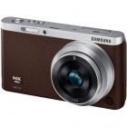 Genuine Samsung NX 1080P 20.5MP Mini Interchangeable Lens Digital Camera with 9mm Lens - Brown