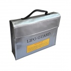 King Size 240 x 65 x 180mm Battery Safety Storage Bag for RC Li-Po Battery - Silver