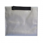 240 x 65 x 180mm Battery Safety Storage Bag for Li-Po Battery - Silver