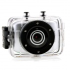 "F5B 1.77"" TFT Max 5.0MP CMOS Waterproof Sports Camcorder w/ 4X Digital Zoom - Silver"