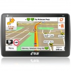 "7"" Screen Win CE 6.0 Car GPS Navigator w/ Bluetooth / FM / DDR256M /  Russia Map - Black + Blue"